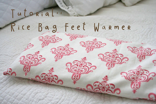 Tutorial Rice Bag Feet Warmer
