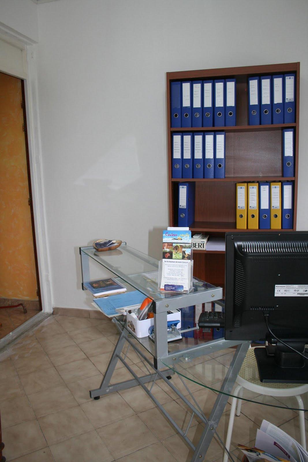 le blog de couleur vanille: création d'un bureau d'accueil