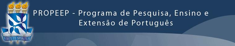 ProPEEP - Programa de Pesquisa, Ensino e Extensão de Português