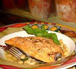 Wild Salmon, Cannellini Bean Basil Broth