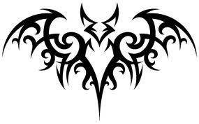 tribal bat tattoo art and deathbat tribal tattoo