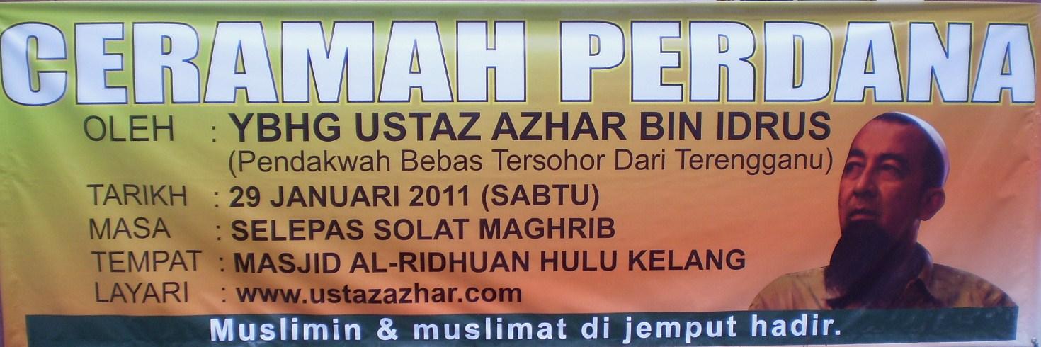 www.mymaktabaty.com Kuliah Ustaz Azhar Idrus di Lembah Klang