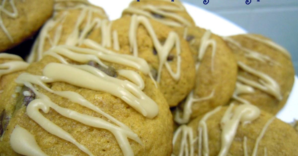 Recipe Indulgence: Pumpkin Chocolate Chip Cookies with Caramel Glaze