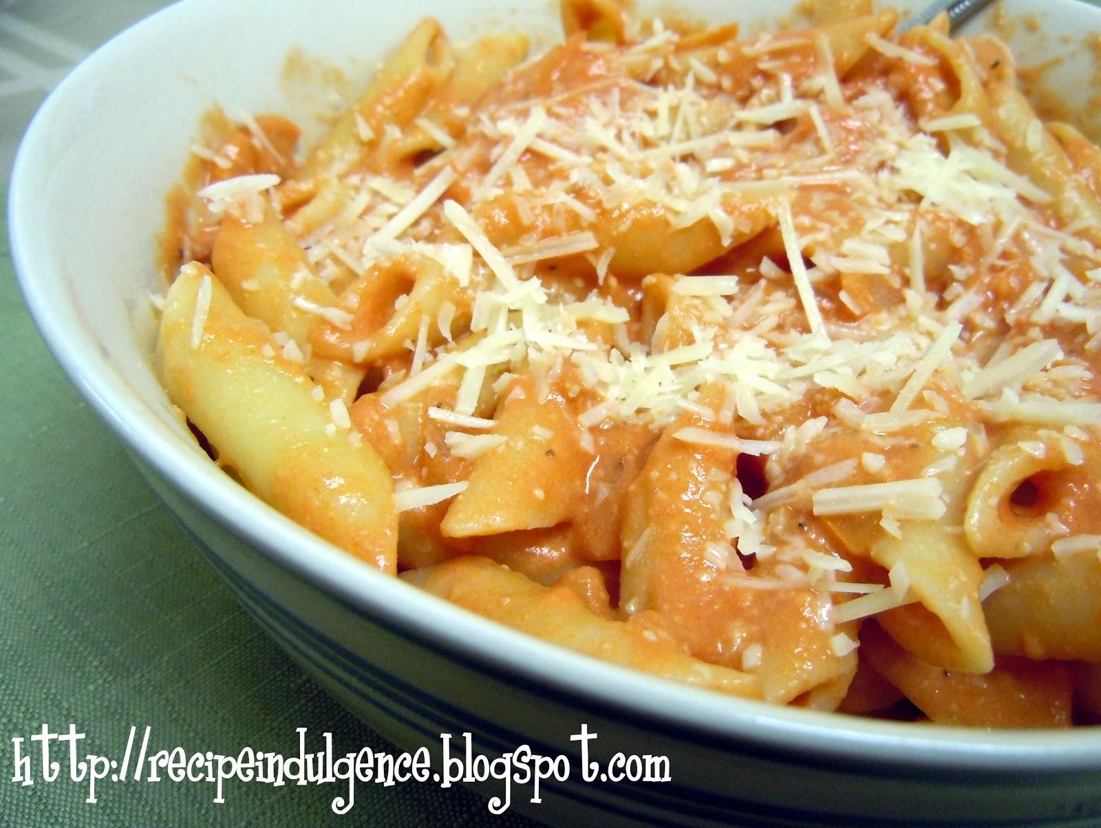 Pasta With Tomato Cream Sauce Recipe — Dishmaps