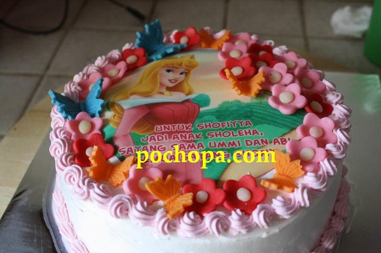 Dapur pochopa kue ulang tahun dengan foto yang bisa dimakan
