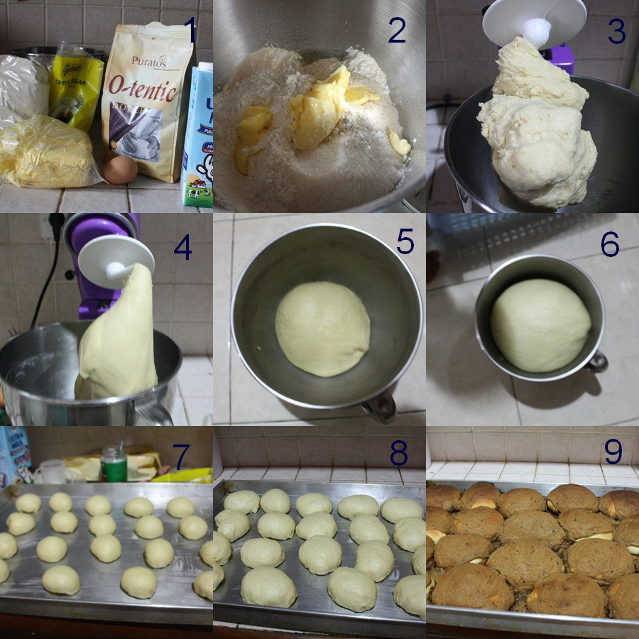 Step by step membuat roti boy (versi cheat)