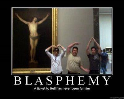 Música y frases ateas, irreverentes, anticlericales, blasfemas y demás.