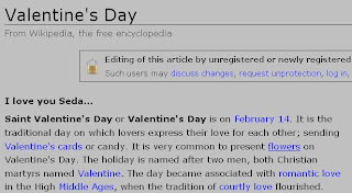 Wikipedia—Valentine's Day