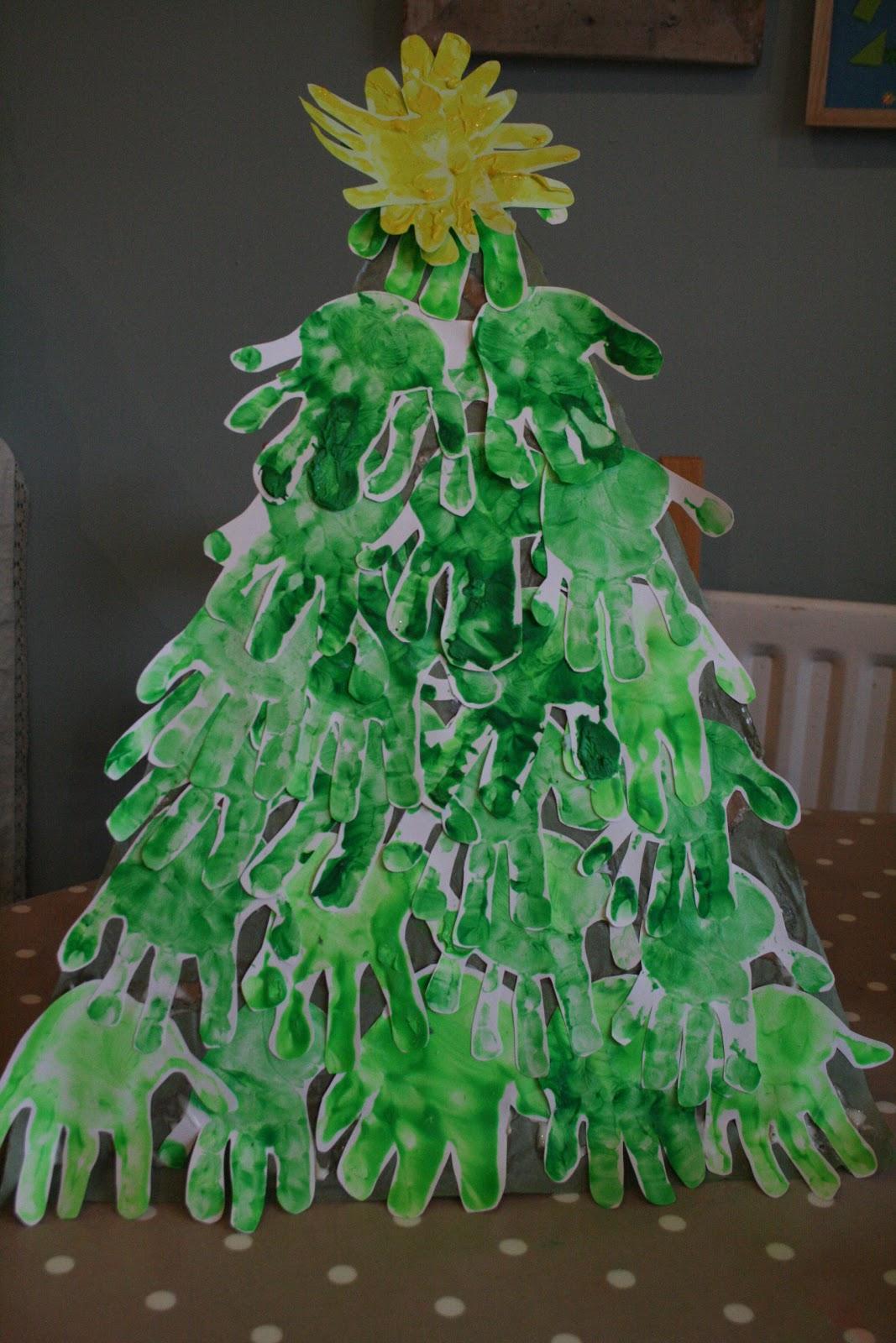 christmas tree handprint - photo #12