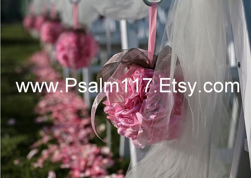 church pew wedding flowers