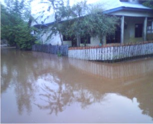 Hujan Deras, Rumah Warga di Kowo Tergenang