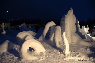 SnowSculptures festival Ilomantsi