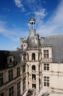 Staircase in Chateau de Chambord