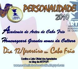 Eleito Personalidade do Ano de 2010,  na área de Produção Literária