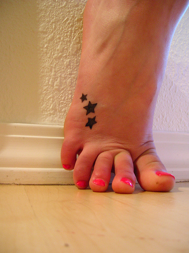cute tattoos for feet