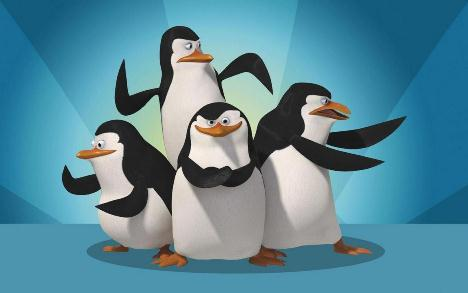 Penguins of Madagascar Blue Background