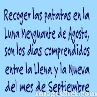 En Luna Menguante Agosto recoger patatas