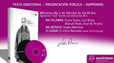 Convite no Borrazás 2 Febreiro Festa Lois Pereiro