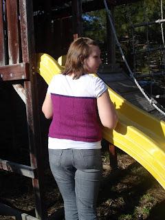 A's corset vest back view