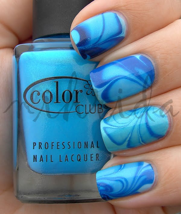 water marble nail polish