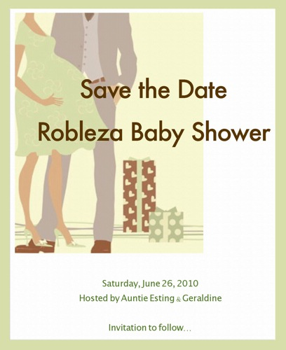 save the date baby shower invitations