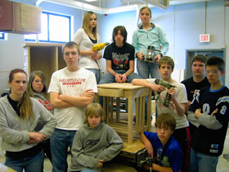 An 8th Grade Class with an End Table