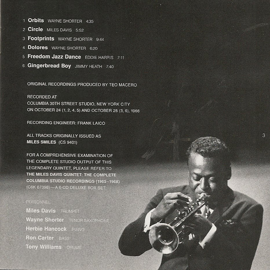 THE COVER PROJECT: Miles Davis - Miles Smiles (1966)