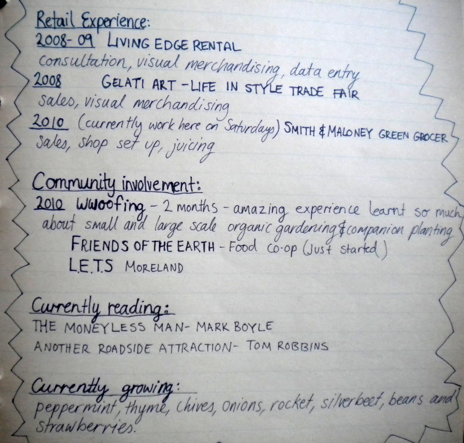 resume How To Hand In A Resume the hand written resume kasia tons and if i dont get job ill just ask for my back re use it