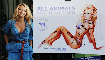 07 Pamela Anderson unveils her New PETA Advertisement
