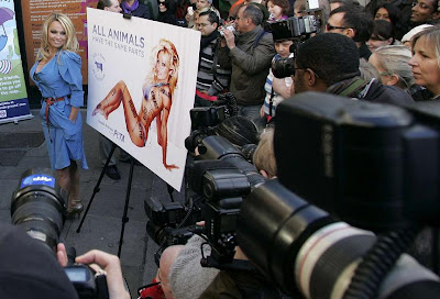 11 Pamela Anderson unveils her New PETA Advertisement