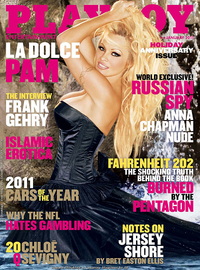 Pamela Anderson Playboy cover January 2011 Pambition Nude Pamela Anderson 2010 Highlights
