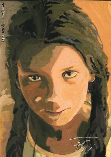Szaharai tuareg kislány - Szahara a Szigeten