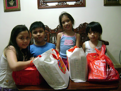 the kids with their book bags
