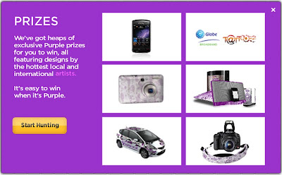 yahoo philippines purple hunt prizes