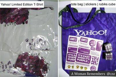 yahoo tote bag, rubiks cube, limited edition tshirt
