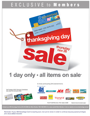 SM Advantage thanksgiving sale