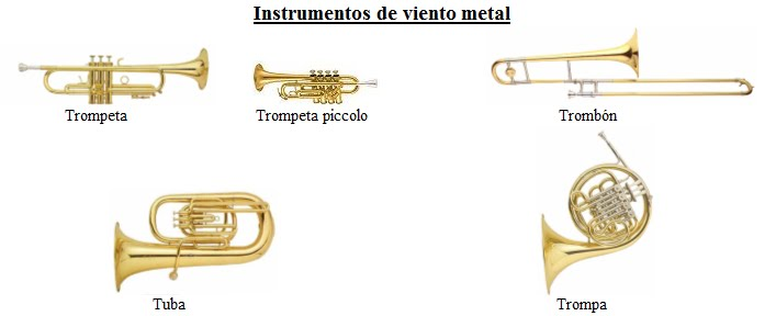 instrumentos de viento. Los instrumentos de viento