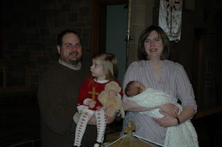 Anna swiped one of the communion crosses