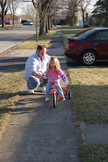 She was so happy to be on the bike.