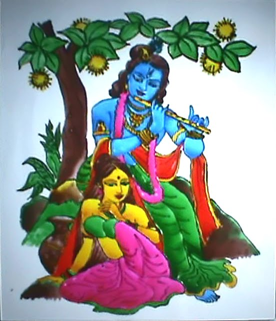 Lord Krishna Sketches For Glass Painting Glass Painting Lord Krishna Amp