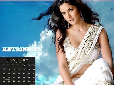calendar 2009 wallpaper. Kaif Calendar 2009,