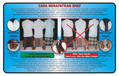 Brochure Of Straightening Row of Islamic Pray
