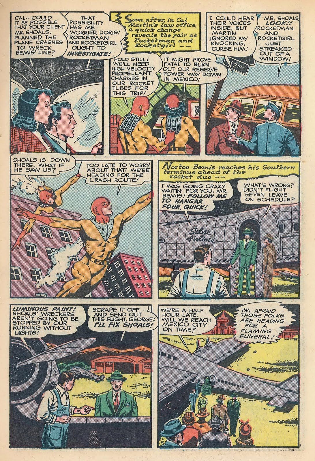 No Cold Air From Ac >> Four-Color Shadows: Rocket Man-Punch Comics-1945