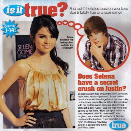 Even though she has denied it, Selena Gomez is dating Justin Bieber!