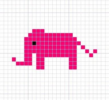 Knitting Charts Elephant Knitting Chart Pattern