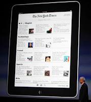 O Ipad pode ser usado como um e-book para a leitura de livros, jornais e revistas