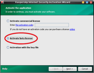 activate beta license kaspersky