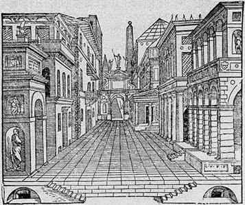 Cena de Tragédia do Segundo Livro de Perspectiva, 1545