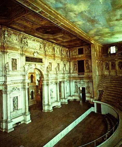 Teatro Olimpico de Vicenza, Italia, Interior