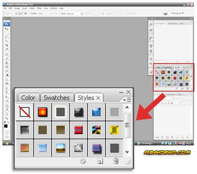 tutorial photoshop cara menginstall style 1